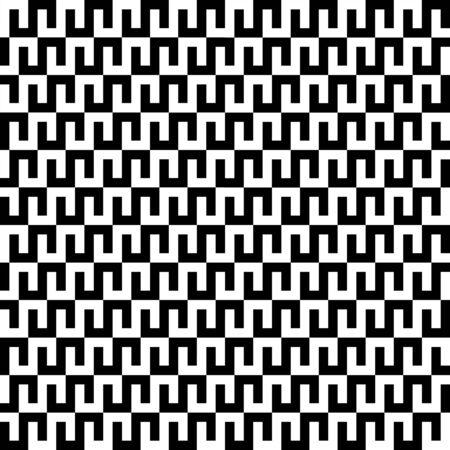 Interlocking monocrhome geometric pattern