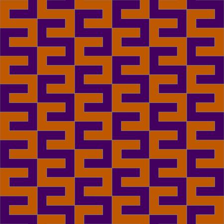 Orange and purple geometric pattern Illustration