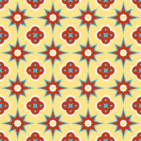 Antique encaustic pattern Illustration