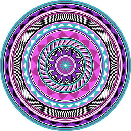 90s tribal mandala Illustration