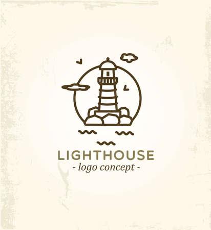 Lighthouse logo concept.