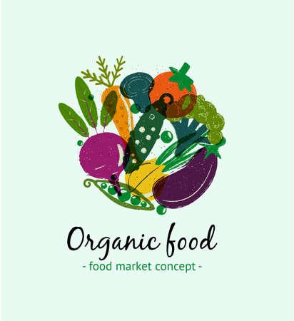 Biologisch voedsel. Stockfoto - 104572712