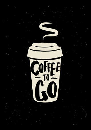 Coffee poster. Illustration