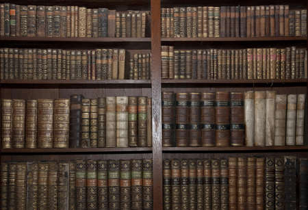 book shelf: historic old books in a old library