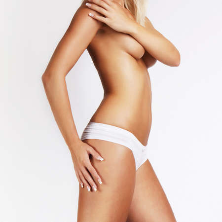 sensual glamour girl body Stock Photo