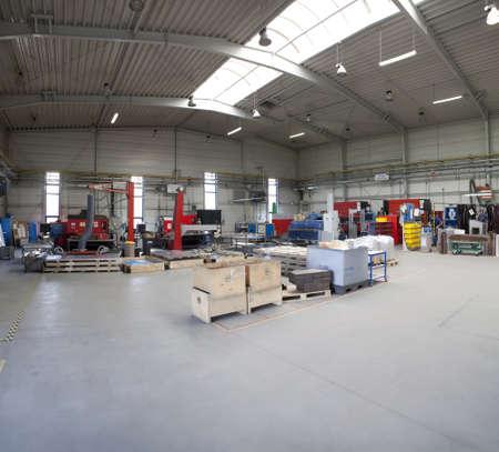 factory floor: modern manufacture factory