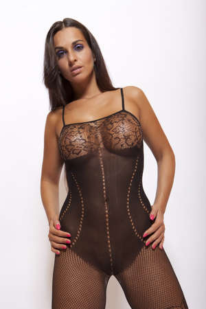big boobs: hermosa chica sexy en ropa interior lujuria transparente