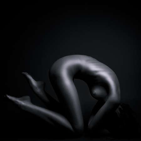 femme black nue: artistique corps nus fille fonc� Banque d'images
