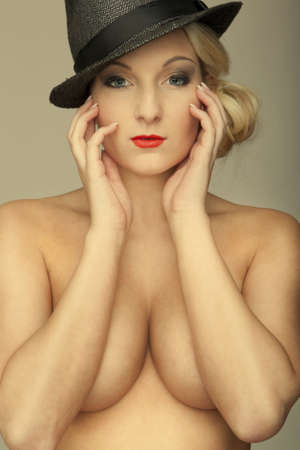 nudes blond girl with big breasts Stock Photo - 15299848