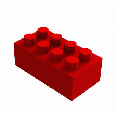 red lego cube Stock Photo - 23666538