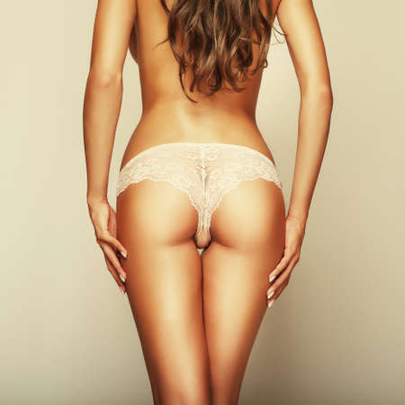 sexy curves girl back, without cellulite