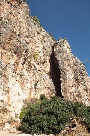 umber: croatia umber mountains and blue sky Stock Photo