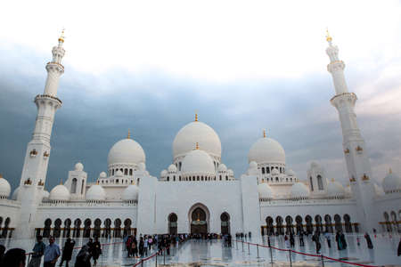 love dome: white history heritage islamic marble monument mosque in abu dhabi
