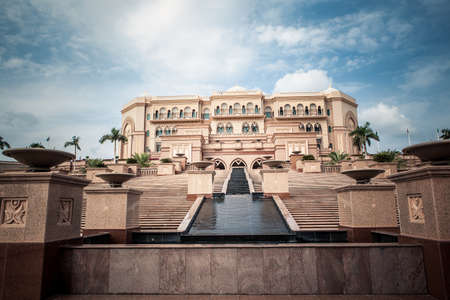 islamic scenery: luxury big islamic palace in abu dhabi