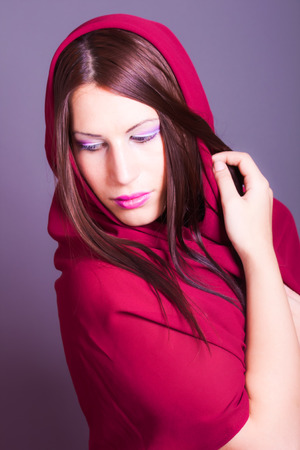 portrait of beautiful arabic woman photo