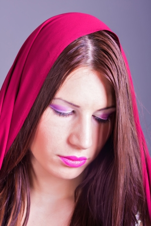 portrait of beautiful arab woman photo