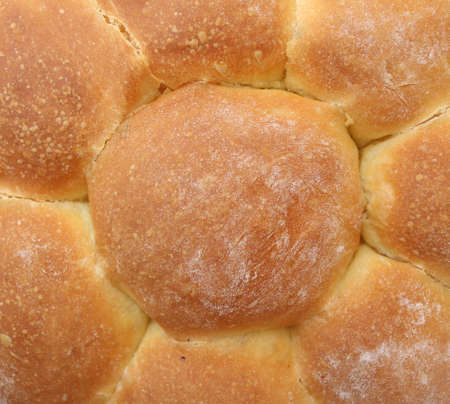Segmented bread, the middle of the bread close-up when it is baked properly