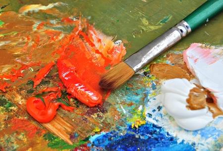 artistas: paleta aislada sobre fondo blanco