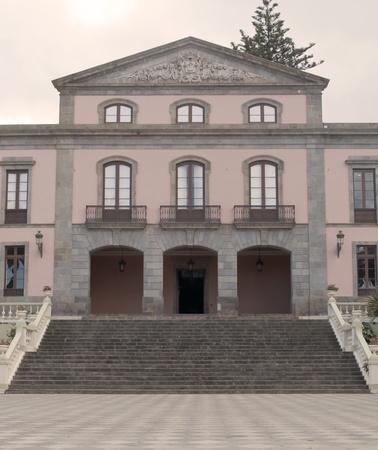 casa colonial: Fachada colonial espa�ol ciudad casa ubicada de La Orotava