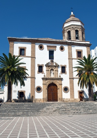 View the the church of Ronda  in the Spanish town of Ronda Stock Photo - 13018209