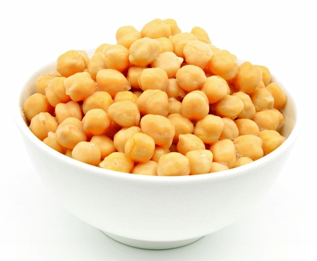 Chickpea casserole, surrounded by white background