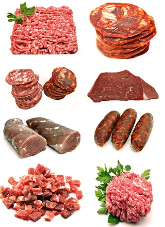 Mural pork meat surrounded by white background Stock Photo - 13214964
