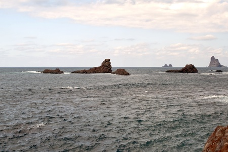 islets: Sea with islets in the village of Tenerife called Taganana