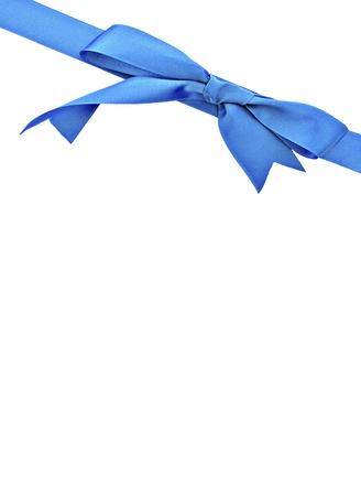 pętla: Pionowa niebieska wstążka otoczony białym tle Zdjęcie Seryjne