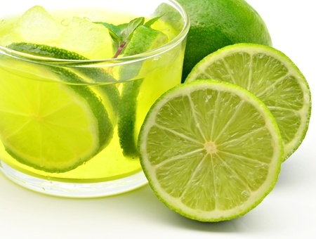 Mojito decorated with limes and ice Stock Photo - 13523965