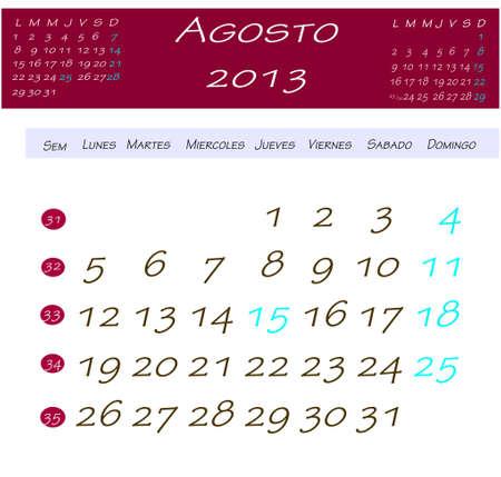 2013 年 4 月のカレンダー 写真素材