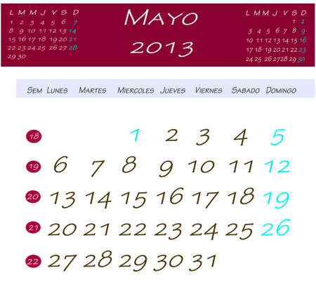 Calendar for may 2013 photo