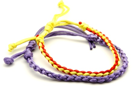Bracelets of colors, surrounded by white background