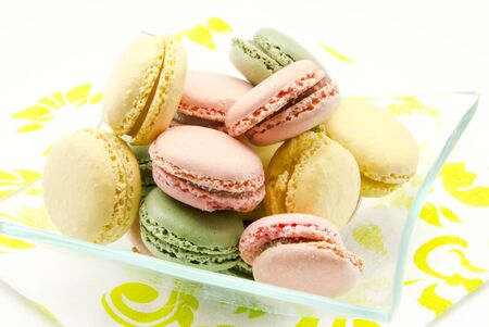 Traditional Parisian macarons photo