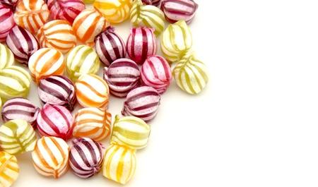Assorted fruit candies Banco de Imagens