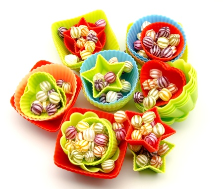 Assorted fruit candies photo