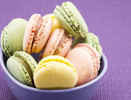 Traditionnels macarons parisiens photo