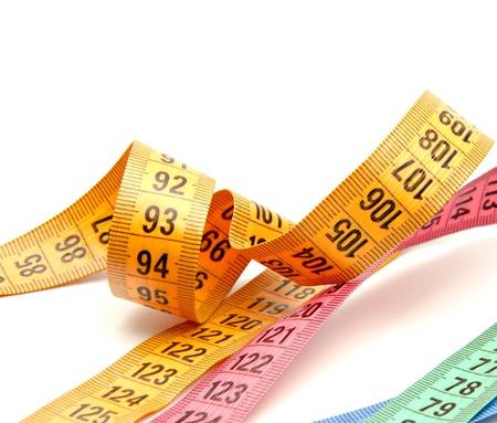 decimal: Tape measure on white background