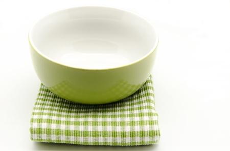 stocked: Cloth napkins and kitchen bowl