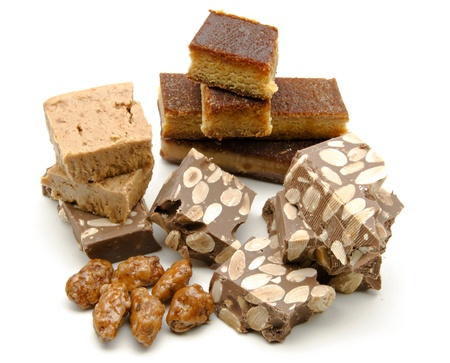 nougat: Nougat of almond, typical Christmas sweet of Spain Stock Photo