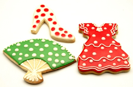 Cookies decorated with motifs of Andalusian folklore Stock Photo - 15543520