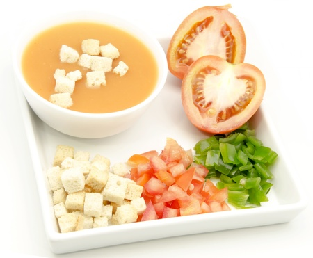 gazpacho: Delicious gazpacho, cold soup typical of Andalusia, Spain
