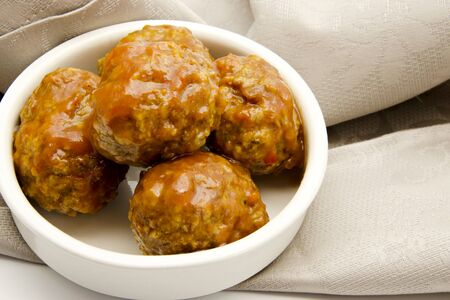 Stew beef meatballs with tomato sauce typical of Spain Stock Photo - 15893820