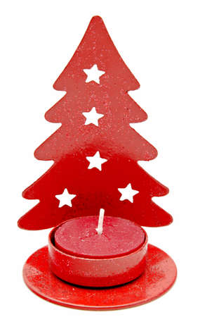 Christmas ornament with red candle photo
