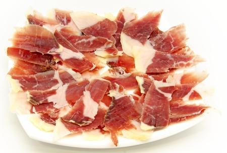 cerdo: Aperitivo de jamón en rebanadas delgadas? Típica de España Stock Photo