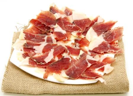 cerdo: Aperitivo de jam�n en rebanadas delgadas? T�pica de Espa�a