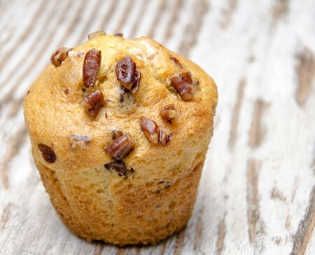Muffin with almonds and walnuts photo