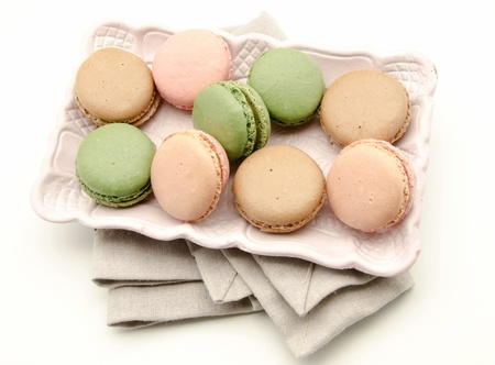 Macaroons, traditional Parisian cookie photo