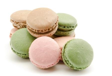 lemon cake: Macaroons, traditional Parisian cookie Stock Photo