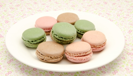fillers: Macaroons, traditional Parisian cookie Stock Photo