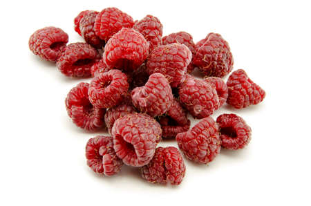 Fresh raspberries wild photo